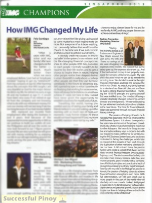 How IMG Changed My Life